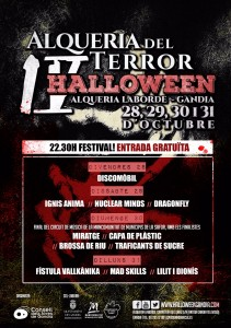 Concerts Alqueria del Terror 2016