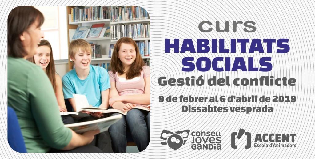 09.02.2019 GANDIA Curso HABILIDADES SOCIALES - ARTICULO WEB con Logos